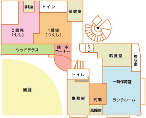 施設紹介:1階マップ
