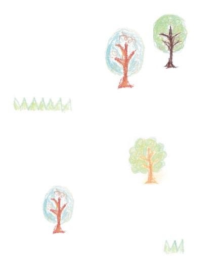 木のイラスト:こやす認定こども園